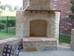 Outdoor Flower Mound Fireplace